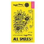Waffle Flower Crafts - Clear Acrylic Stamps - Little Sunshine