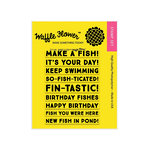 Waffle Flower Crafts - Clear Acrylic Stamps - Make a Fish