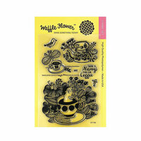 Waffle Flower Crafts - Clear Photopolymer Stamps - Enveloper Coffee