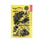Waffle Flower Crafts - Clear Acrylic Stamps - Enveloper Hugs