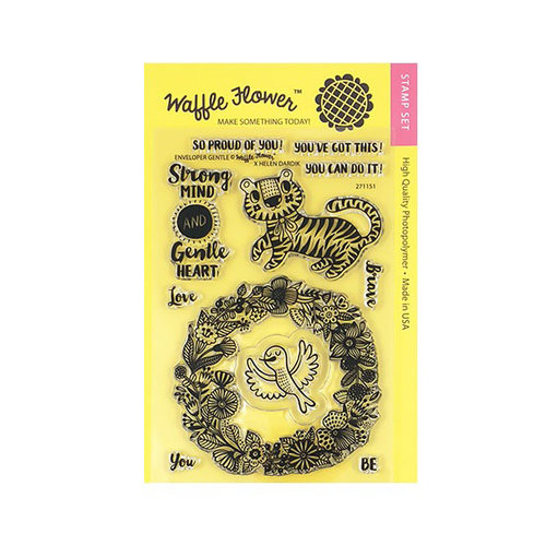 Waffle Flower Crafts - Clear Photopolymer Stamps - Enveloper Gentle