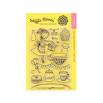 Waffle Flower Crafts - Clear Acrylic Stamps - Tea Party