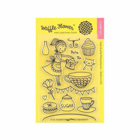 Waffle Flower Crafts - Clear Photopolymer Stamps - Tea Party