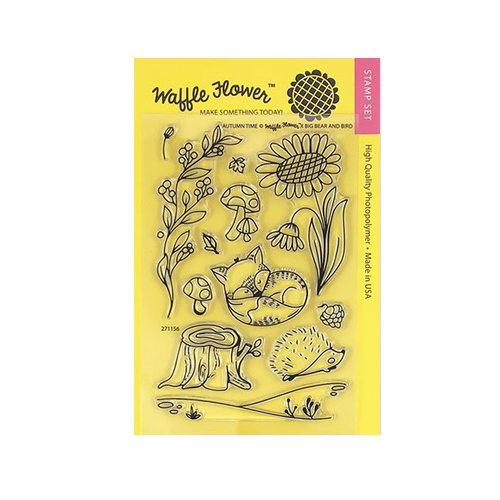 Waffle Flower Crafts - Clear Photopolymer Stamps - Autumn Time