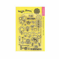 Waffle Flower Crafts - Clear Photopolymer Stamps - Grow Happiness