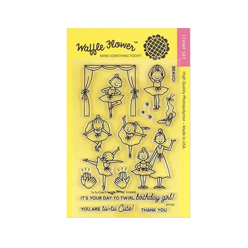 Waffle Flower Crafts - Clear Photopolymer Stamps - Tu-Tu Cute