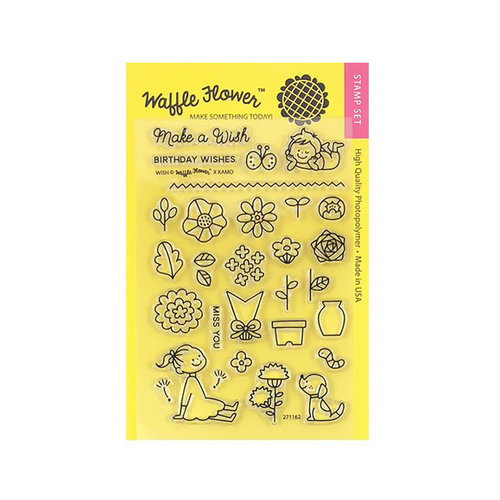 Waffle Flower Crafts - Clear Photopolymer Stamps - Wish