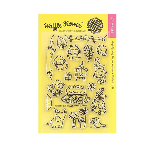 Waffle Flower Crafts - Clear Photopolymer Stamps - Jungle Birthday