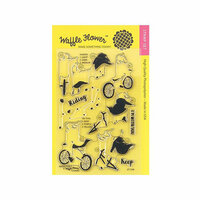 Waffle Flower Crafts - Clear Photopolymer Stamps - Biking Girls