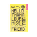 Waffle Flower Crafts - Clear Acrylic Stamps - Embroidered Greetings