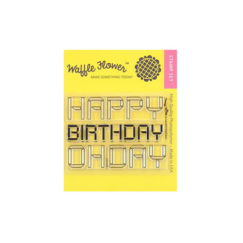 Waffle Flower Crafts - Clear Photopolymer Stamps - Folded Happy