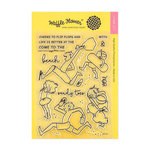 Waffle Flower Crafts - Clear Acrylic Stamps - Sandy Toes