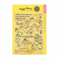 Waffle Flower Crafts - Clear Photopolymer Stamps - Sandy Toes