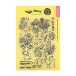 Waffle Flower Crafts - Clear Acrylic Stamps - Let Love Grow