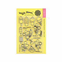 Waffle Flower Crafts - Clear Photopolymer Stamps - Sweet Ice Cream