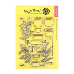 Waffle Flower Crafts - Clear Acrylic Stamps - Spice Garden