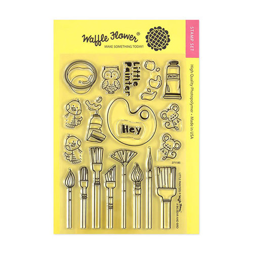 Waffle Flower Crafts - Clear Photopolymer Stamps - Little Painters