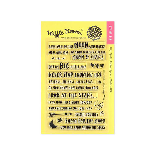 Waffle Flower Crafts - Clear Photopolymer Stamps - Moon and Stars