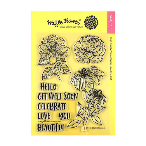 Waffle Flower Crafts - Clear Photopolymer Stamps - Bouquet Builder 2