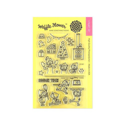 Waffle Flower Crafts - Christmas - Clear Photopolymer Stamps - Cookie Time