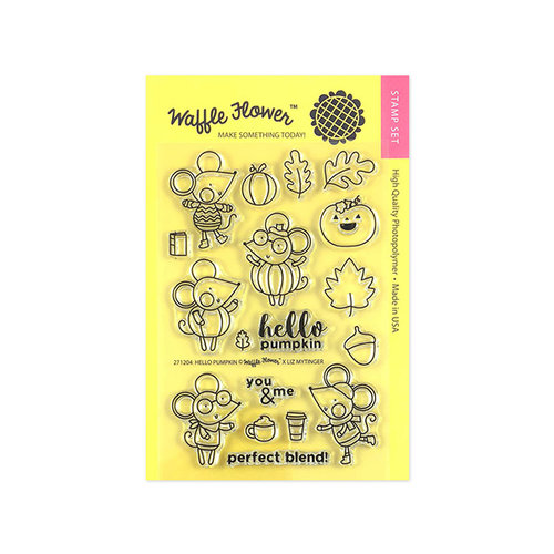 Waffle Flower Crafts - Clear Photopolymer Stamps - Hello Pumpkin