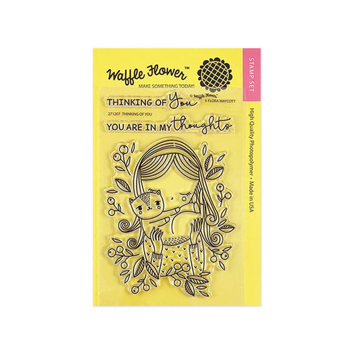 Waffle Flower Crafts - Clear Photopolymer Stamps - Thinking of You