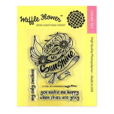 Waffle Flower Crafts - Clear Photopolymer Stamps - My Sunshine