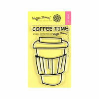 Waffle Flower Crafts - Clear Photopolymer Stamps - Coffee Time