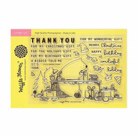 Waffle Flower Crafts - Clear Photopolymer Stamps - Holiday Thanks