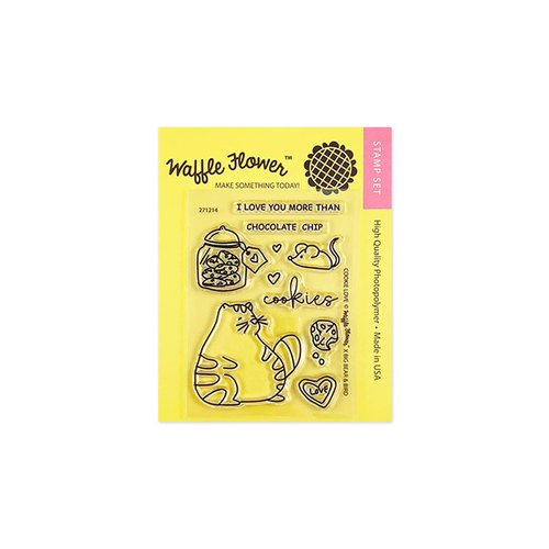 Waffle Flower Crafts - Clear Photopolymer Stamps - Cookie Love