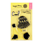 Waffle Flower Crafts - Clear Photopolymer Stamps - Cool Dog