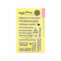 Waffle Flower Crafts - Clear Photopolymer Stamps - Here for You