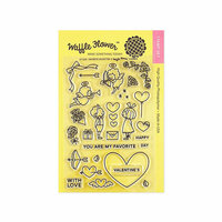 Waffle Flower Crafts - Clear Photopolymer Stamps - Favorite Valentine