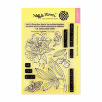 Waffle Flower Crafts - Clear Photopolymer Stamps - Peony Dreams