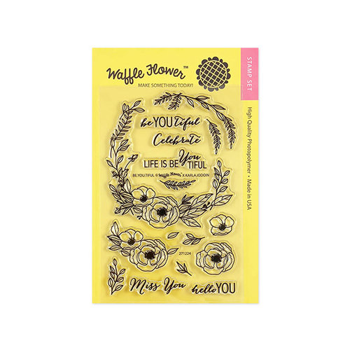 Waffle Flower Crafts - Clear Photopolymer Stamps - Be You Tiful