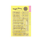 Waffle Flower Crafts - Clear Photopolymer Stamps - Label Greetings