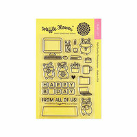 Waffle Flower Crafts - Clear Photopolymer Stamps - Office Birthday