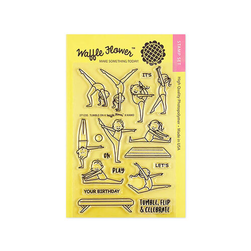 Waffle Flower Crafts - Clear Photopolymer Stamps - Tumble On