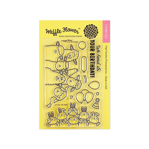 Waffle Flower Crafts - Clear Photopolymer Stamps - We Herd