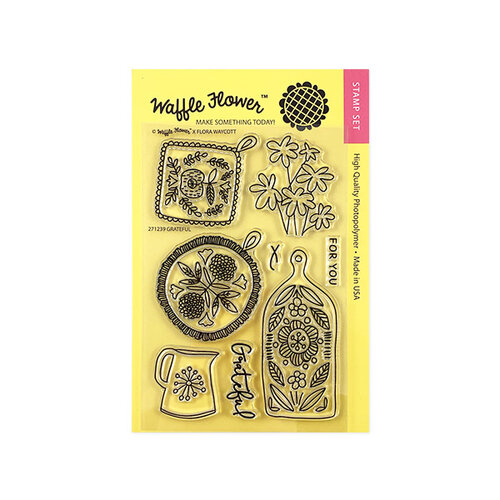 Waffle Flower Crafts - Clear Photopolymer Stamps - Grateful