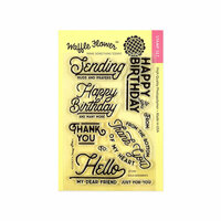 Waffle Flower Crafts - Clear Photopolymer Stamps - Bold Sentiments