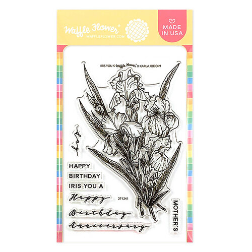 Waffle Flower Crafts - Clear Photopolymer Stamps - Iris You Stamp Set
