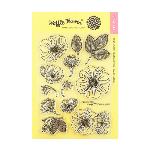 Waffle Flower Crafts - Clear Photopolymer Stamps - Wild Roses