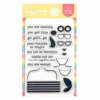 Waffle Flower Crafts - Clear Photopolymer Stamps - Go Girl