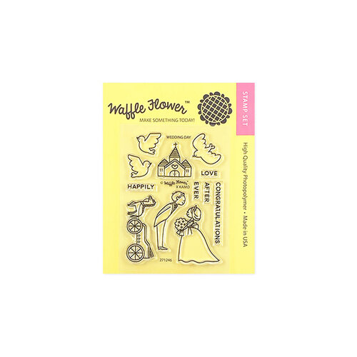 Waffle Flower Crafts - Clear Photopolymer Stamps - Wedding Day
