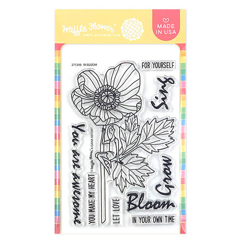 Waffle Flower Crafts - Clear Photopolymer Stamps - In Bloom Stamp Set