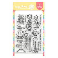 Waffle Flower Crafts - Clear Photopolymer Stamps - Konnichiwa Stamp Set