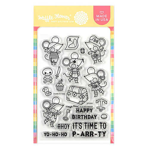 Waffle Flower Crafts - Clear Photopolymer Stamps - P-arr-ty Time Stamp Set