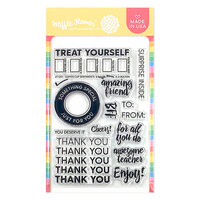 Waffle Flower Crafts - Clear Photopolymer Stamps - Coffee Cup Sentiments Stamp Set