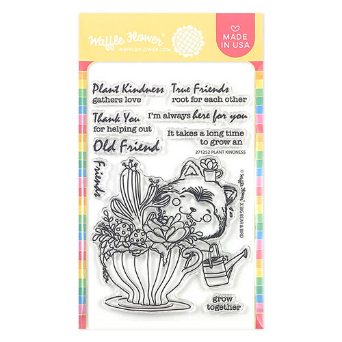 Waffle Flower Crafts - Clear Photopolymer Stamps - Plant Kindness Stamp Set
